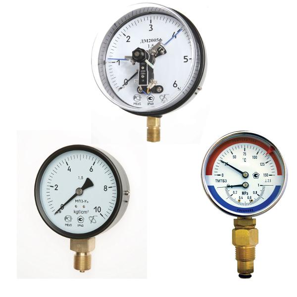 Манометри, термометри, термоманометры, термостати