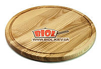 Подставка деревянная круглая доска 35см (ясень) под пиццу