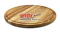 Подставка деревянная круглая доска 40см (ясень) под пиццу