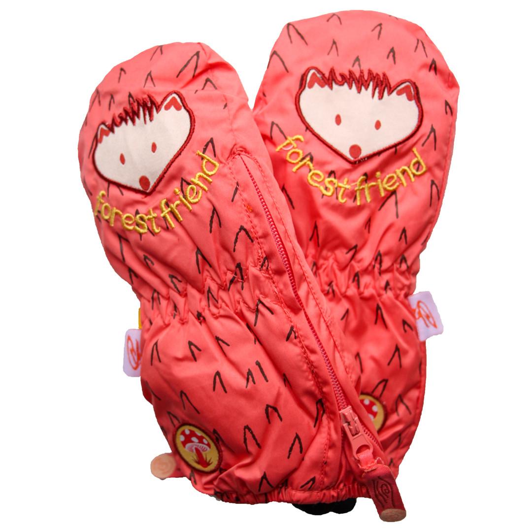 Детские зимние термокраги для мальчика и девочки от 1 года до 4 лет оранжевые