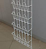 Торговая полка для реализации журналов,открыток,газет навесная корзиночная 4 ряда по 3 ячейки, фото 1