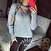 Свитер крупной вязки, чекер Турция. Размер единый 42/46. Цвета разные. (5104), фото 4