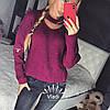 Свитер крупной вязки, чекер Турция. Размер единый 42/46. Цвета разные. (5104), фото 8
