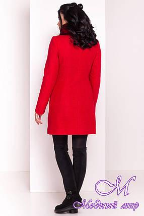 Красное женское зимнее пальто р. S, M, L арт. Эльпассо букле песец зима 7512, фото 2