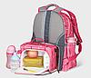 Рюкзак для мам Sunveno 2в1 Оригинал с термосумкой в комплекте Новейшая модель с огромным функционалом розовый, фото 7