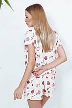 """Байковый женский комплект для сна """"MI-MI"""" с шортами и маской (3 цвета), фото 3"""