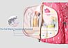 Рюкзак для мам Sunveno 2в1 Оригинал с термосумкой в комплекте Новейшая модель с огромным функционалом розовый, фото 8