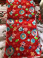 Кухонное полотенце льняное с Новогодним рисунком поросят 2019