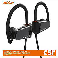 Bluetooth стерео гарнитура MOXOM MOX-23 Wireless Waterproof Sports Earphone (IPX7) Black