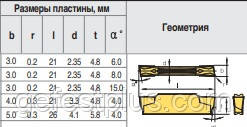 MGMN250-G LDA Твердосплавная пластина для токарного резца, фото 2