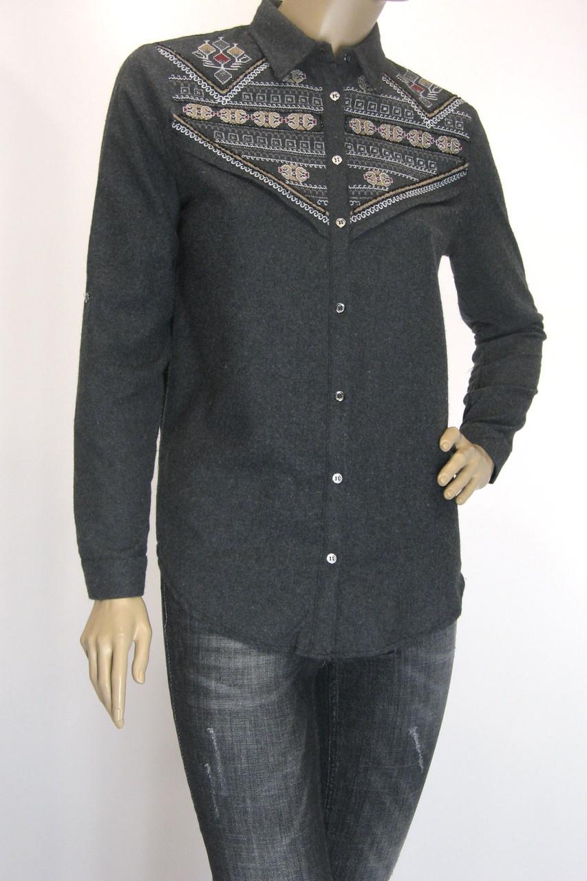 Жіноча сорочка з фланелі