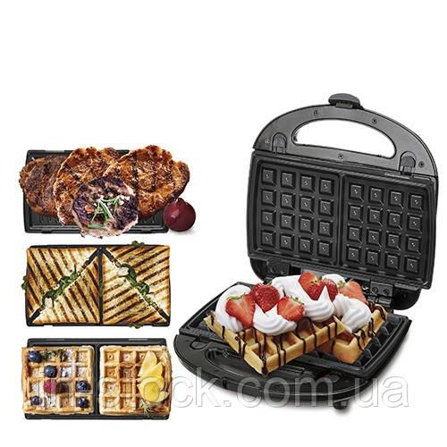 Вафельниця-сендвічниця-гриль 3 в 1  Camry CR 3024
