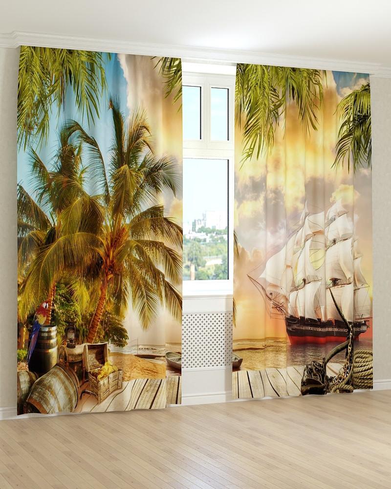Фотошторы фрески пираты