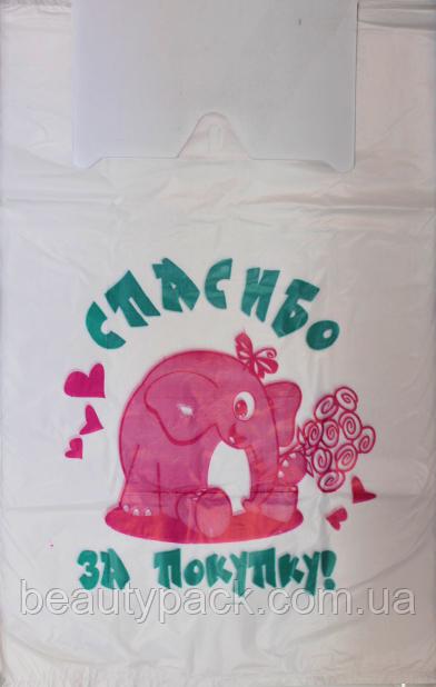 Пакет полиэтиленовый Майка Слоник 35 х58 см / уп-50шт