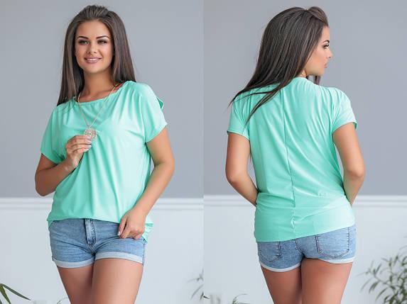 """Летняя женская блуза """"REVO"""" с коротким рукавом (большие размеры), фото 2"""