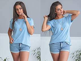 """Летняя женская блуза """"REVO"""" с коротким рукавом (большие размеры), фото 3"""