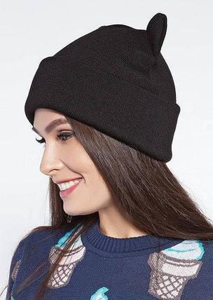 Модная женская шапка с ушками, фото 2
