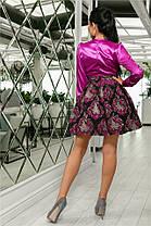 Женское Платье (141)710, (3 цвета). Ткань: турецкая органза + шёлк арман. Размеры :42,44,46,48,50., фото 3