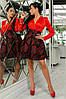 Женское Платье (141)710, (3 цвета). Ткань: турецкая органза + шёлк арман. Размеры :42,44,46,48,50., фото 4