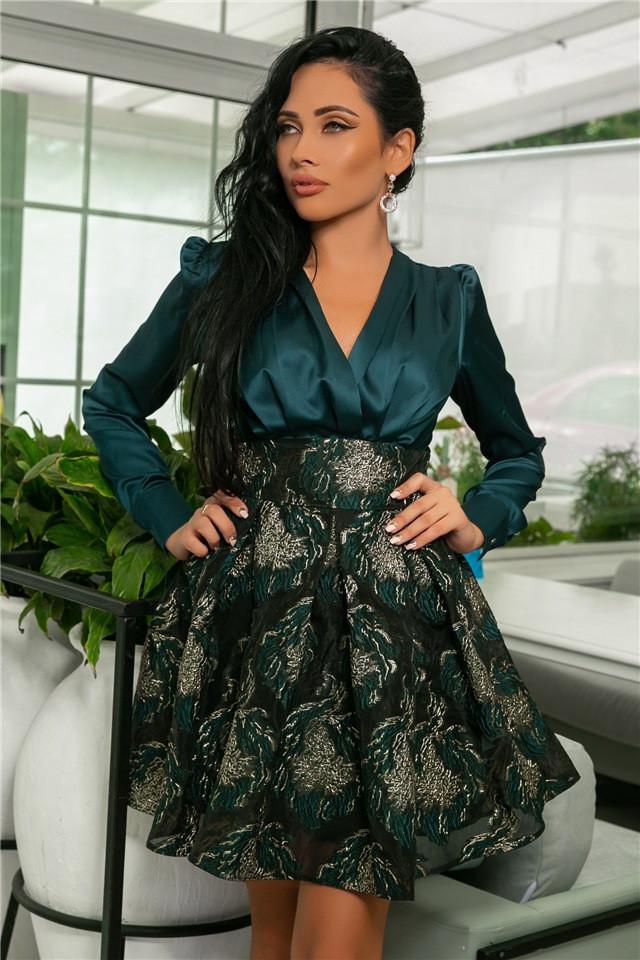 Женское Платье Изумруд (141)710-1, (3 цвета). Ткань: турецкая органза +шёлк арман :42,44,46,48,50.