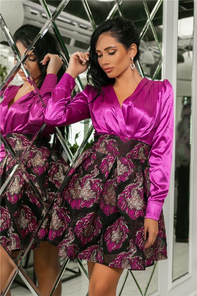 Женское Платье Слива (141)710-2, (3 цвета). Ткань: турецкая органза + шёлк арман 42,44,46,48,50.