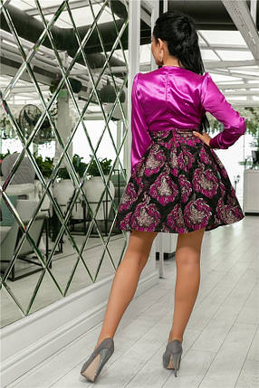 Женское Платье Слива (141)710-2, (3 цвета). Ткань: турецкая органза + шёлк арман 42,44,46,48,50., фото 2
