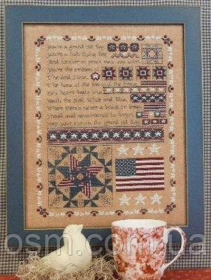 Схема для вышивки Rosewood Manor Grand Old Flag Quilt Sampler