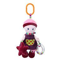 Мягкая игрушка подвеска на кроватку и коляску для новорожденного ребенка Девочка BBSKY 31см (47337)