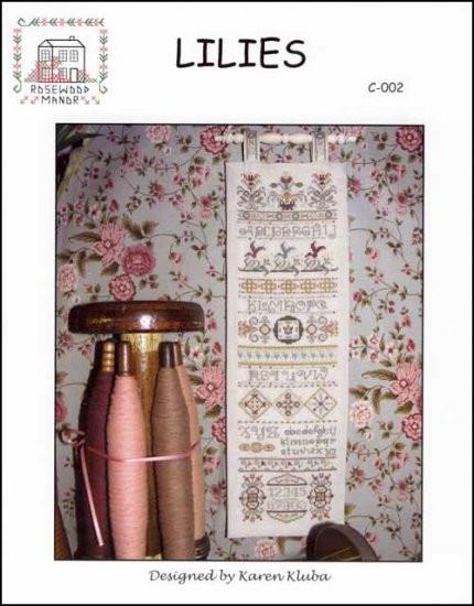 Схема для вышивки Rosewood Manor Lilies Sampler