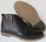 Супер классика! Поло Ральф лаурен реплика Polo Ralph Lauren мужские зимние ботинки кожа черная, фото 1