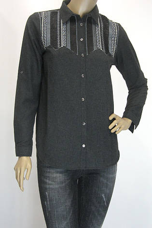 Женская рубашка из фланели с вышивкой, фото 2