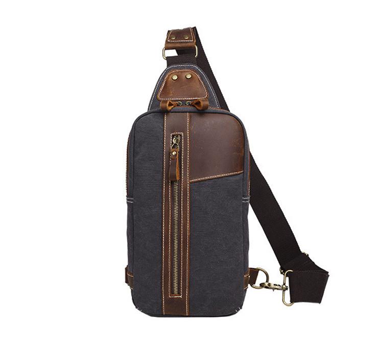 Рюкзак на одно плечо S.c.cotton Темно-синий