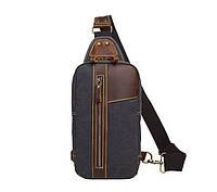 Рюкзак на одно плечо S.c.cotton Темно-синий, фото 1