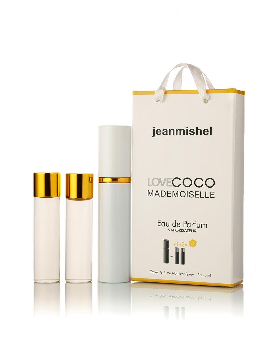 3 по 15 мл Мини-парфюм  JEANMISHEL LOVE COCO MADEMOISELLE EDT  (ж) 15