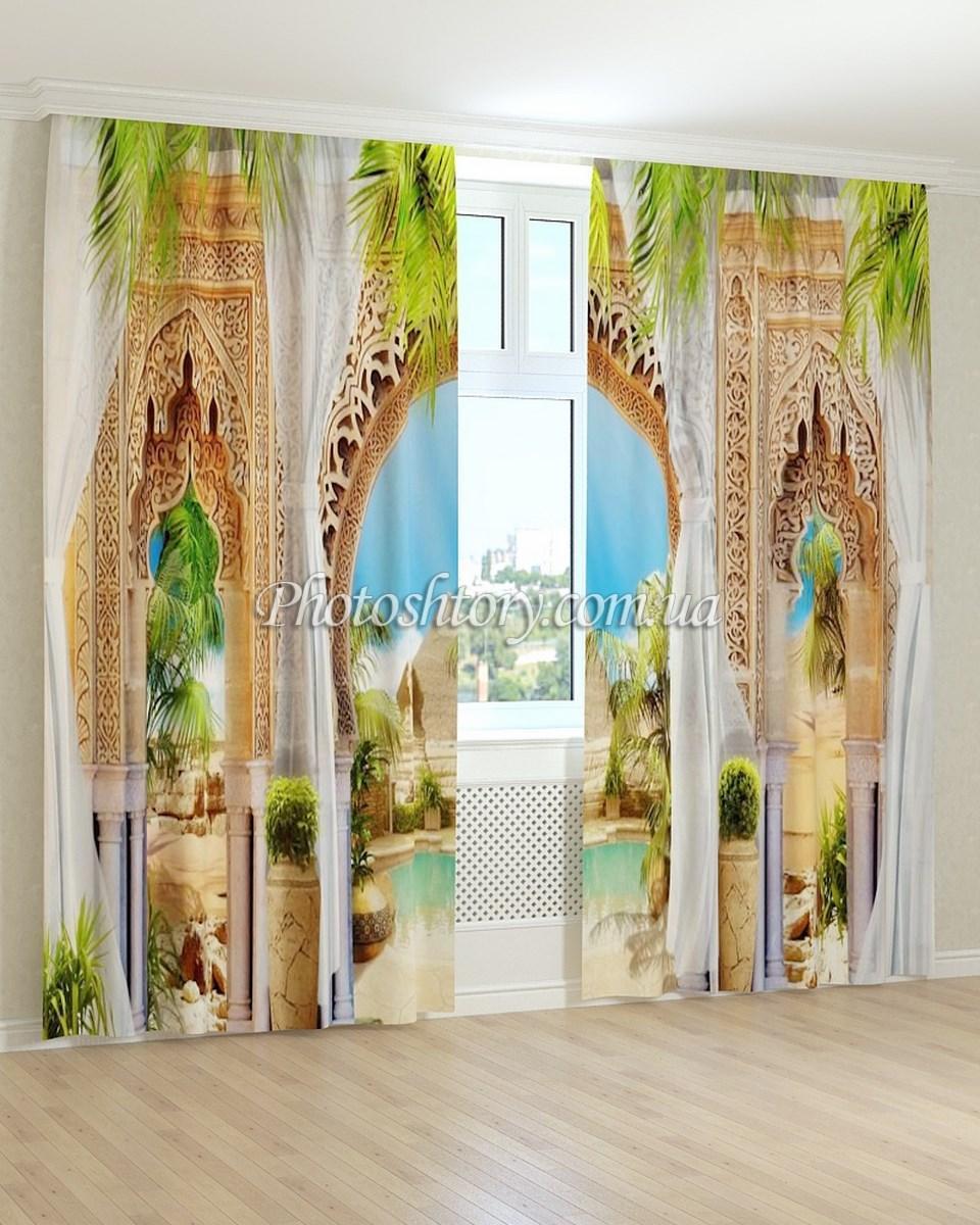 Фотошторы фрески різьблена арка