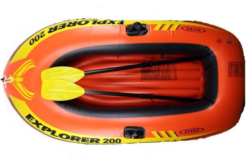 Надувний човен Explorer Intex гребний двомісна 185х94х41 см Човен