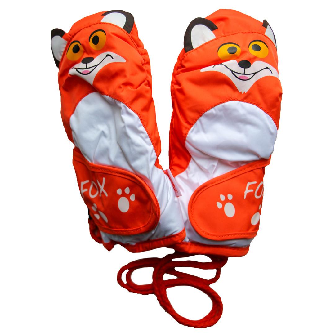 Детские зимние термоварежки 2-4 года оранжевые