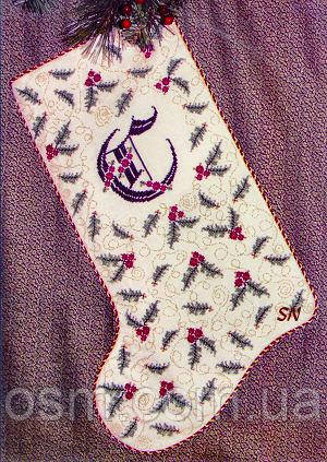 Схема для вышивки Rosewood Manor Holly Berries Stocking