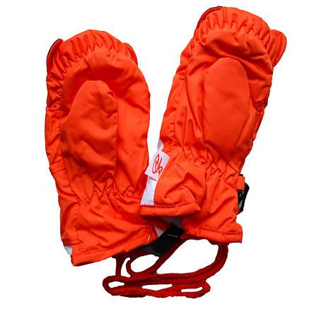 Детские зимние термоварежки 2-4 года оранжевые, фото 2