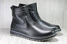 Мужские кожаные сапоги высокие большие размеры:46,48