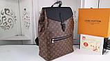 Рюкзак Луи Витон, Macassar, Monogram, кожаная реплика, фото 5