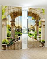 Фотошторы фрески павлин под аркой