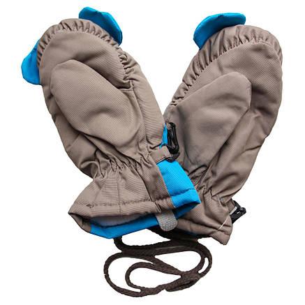 Дитячі зимові непромокальні термо рукавиці для дитини 4-5 років, фото 2