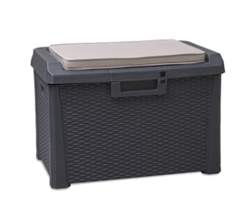 Сундук пластиковый SANTORINI PLUS 125 л с подушкой