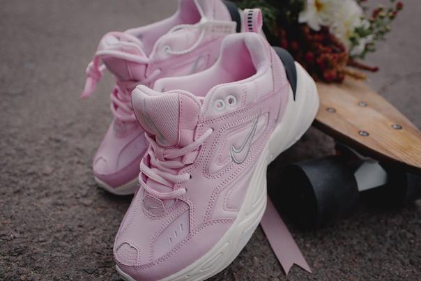 Женские осенние кроссовки Nike M2K Tekno Pink топ реплика