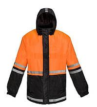 Куртка утепленная оранжево-черная . Сигнальная спецодежда