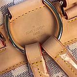 Рюкзак Луї Вітон Montsouris Damier Azur, шкіряна репліка, фото 3