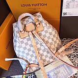 Рюкзак Луї Вітон Montsouris Damier Azur, шкіряна репліка, фото 6