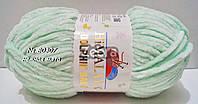 Нитки пряжа для вязания велюровая плюшевая DOLPHIN BABY Долфин Беби № 80307 - нежная мята