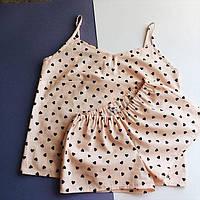 Женская пижамка Сердечки бежевая  подарок подруге